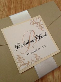 Pocket Wedding Invitations by JaxDesigns27 on Etsy, $6.25