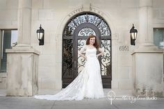 Mulberry Lane Studio - Fort Worth Photographers - Wedding day bridal portraits in front of wedding venue