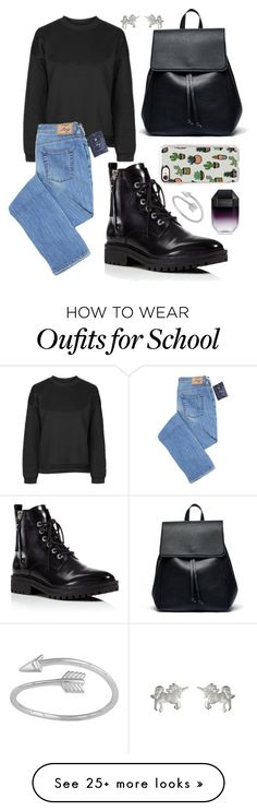 """""""Winter School Style"""" by hollyskinner01 on Polyvore featuring Topshop, Kendall + Kylie, Sole Society, Dogeared, Casetify, STELLA McCARTNEY and Midsummer Star"""