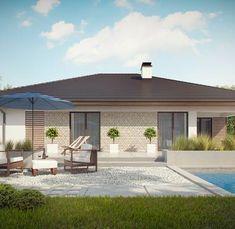 Z301 to wyjątkowy dom z kategorii projekty domów jednorodzinnych Small House Design, New House Plans, Home Design Plans, Home Fashion, New Homes, Construction, Patio, House Styles, Outdoor Decor