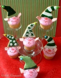 cupcakes decorating ideas for Christmas