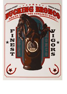 BioShock Infinite Bucking Bronco Vigor limited edition screenprinted poster via the Irrational Games Store.