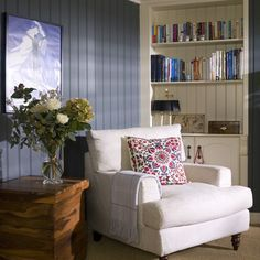 Cosy blue living room