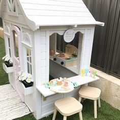 The other I adore is by Loving all the additional Kmart goodies that fit in there. Kids Cubby Houses, Kids Cubbies, Play Houses, Kids Outdoor Play, Backyard For Kids, Kids Yard, Backyard Hammock, Wendy House, Playhouse Outdoor