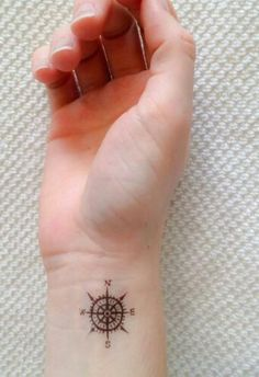 Cute compass tattoo