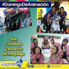 El spa la futbolada y la estación de maquillaje hacen parte de nuestro #DomingoDeAnimacion  #pequesparty #maracaibo #maracaiboguia #diversion #animacion #fiestasmaracaibo #fiestainfantil #juegos #niños #domingo