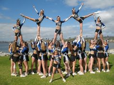 aztec all stars- junior level 4 stunts Youth Cheerleading, Cheerleading Workouts, Cheerleading Pictures, Volleyball Pictures, Softball Pictures, Cheer Pyramids, Cheerleading Pyramids, Cheer Picture Poses, Cheer Poses