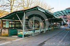 The famous fish market place, in Treviso city, in Veneto, Italy. Decorative arabesques during winter holidays. Treviso Italy, Famous Fish, Arabesque, Winter Holidays, Stock Photos, Marketing, House Styles, City, Places
