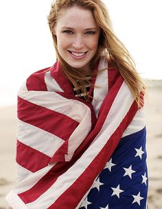 Beautiful girl and picture, but please don't use our flag in this way!