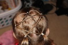 Kids hair style. Good for the 4th of July