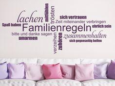 Wandtattoo Familienregeln Wortwolke von WANDTATTOO.DE #Familie #Familienregeln #Hausordnung #Wortwolke #Wanddekoration #Wandtrend