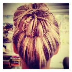 Cool twist on a normal bun.