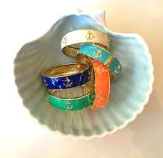 Anchor Cuff Hinged Bangle Bracelet