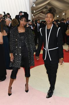 Willow Smith in Chanel F15 HC (Look 36), shoes and Chanel fine jewelry at Met Gala 2016