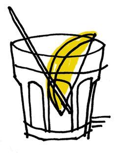 Gin martini #illustration #draw #booze #drinkillustration #lemon