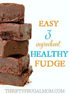 Seriously.  What's not to love about an easy, healthy snack like this fudge?…