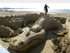 Gator/Croc Sand Sculpture
