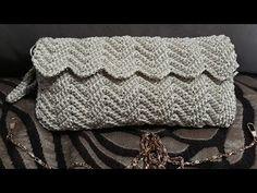 Crochet Clutch Pattern, Graph Crochet, Filet Crochet, Crochet Stitches, Crochet Handbags, Crochet Purses, Crochet Bags, Crochet Bag Tutorials, Crochet Videos