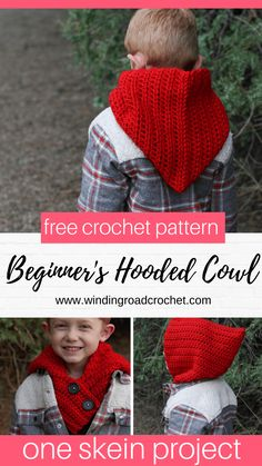Crochet Hooded Cowl: A Pattern for Beginners - Winding Road Crochet Crochet this beginner friendly hooded cowl. This free crochet pattern uses only basic crochet stitches. Quick and easy one skein project. Crochet Hooded Cowl, Hooded Scarf Pattern, Crochet Cowl Free Pattern, Free Crochet, Crochet Ideas, Scarf Patterns, Stitch Patterns, Knitting Patterns, Ideas