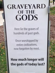 """""""Graveyard of the Gods"""" at UW-Madison Reminds Students That All Gods Have an Expiration Date"""