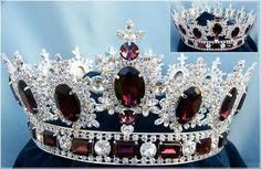Men's unisex rhinestone Silver full Amethyst purple Royal Premium Crown Elegant and regal fully round crown fit for a king or queen. This is the best crown to wear to a homecoming event, parade or car Royal Crowns, Royal Tiaras, Crown Royal, Tiaras And Crowns, Pageant Crowns, Diamond Crown, Royal Jewelry, Jewellery, Kings Crown