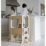 Learning Tower Kids Adjustable Height Kitchen Step Stool with Safety Rail (Natural) – Wood Construction, Perfect for Toddlers or Any Little Helper – Quality Preschool Learning Furniture from Little Partners Tour Dapprentissage, Kitchen Step Stool, Step Stools, Kids Stool, Child Step Stool, Learning Tower, Kitchen Helper, Little Kitchen, Toddler Kitchen