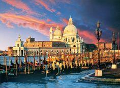 Puzzle Coucher de soleil sur Venise - Puzzles villes