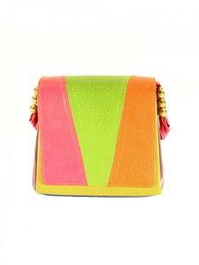Pinky 1980s Multicolor Shoulder Bag