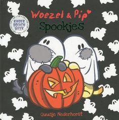 Het is herfst en Woezel en Pip maken een mooie slinger van herfstbladeren. Maar voor welk feest? Woezel en Pip besluiten een spannend spookfeest te geven. Prentenboekje met uitgebreide tekst en vrolijke kleurenillustraties. Vanaf ca. 3 jaar.