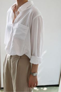 Photo | Death by Elocution | Bloglovin' white shirt outfit ideas for summer