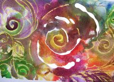 """ Flowers flowing "" Maja Larson 2012  Reiki Healing Art  for sale  $30.00 Canadian (includes shipping and handling!)  Pay Pal only  Contact Maja at   bluebuddhaimagerie@gmail.com"