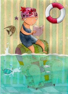 girl reading by Issa Gallego