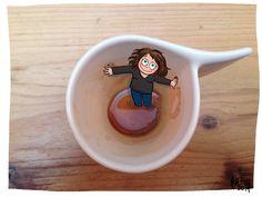 CDH: un café et ça repart >> Illustration pour mon blog perso Crayon d'Humeur www.crayondhumeur.com