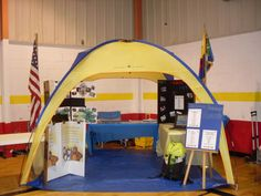 """Cub Scout """"Booth"""" - set up during popcorn-storefront selling or other recruitment events!"""