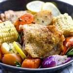 Slow Cooker Chicken Thighs and Vegetables