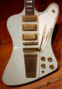 Gibson Firebird VII (Think you gotta be a full-blown rock star to afford something like this--but, I can dream, can't I?-Trend).