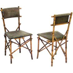 Thonet Bamboo-style Side Chairs | From a unique collection of antique and modern chairs at https://www.1stdibs.com/furniture/seating/chairs/