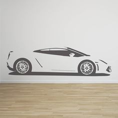 gallardo sports car vinyl wall sticker by oakdene designs | notonthehighstreet.com