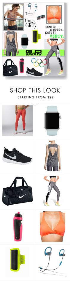 """Go sporty"" by sedf2 ❤ liked on Polyvore featuring Reebok, White Label, Tiffany & Co., NIKE, Koral Activewear, Victoria's Secret, Oakley, Beats by Dr. Dre and sportystyle"