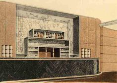 Paul Iribe - Illustration 'Le Normandie' - Le Bar du Grill Room - 1935 Ss Normandie, Titanic Ship, Modern Mansion, His Travel, Interior Styling, Interior Design, Water Crafts, Art Deco Fashion, Vintage Travel
