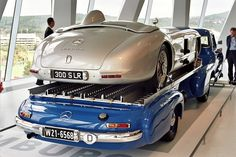 Visiting the Mercedes-Benz Museum: 1955 Mercedes-Benz high-speed racing car transporter with MB 300 SLR   by Michiel2005