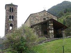 12th century church, San Joan de Caselles, in Canillo, Andorra