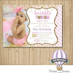 Twinkle twinkle little star First Birthday by LilDreamsDesign