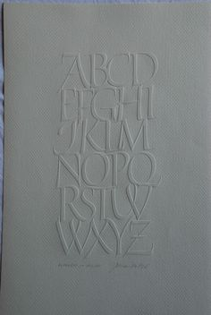 Write Now Exhibition How To Write Calligraphy, Calligraphy Letters, Lettering Design, Hand Lettering, Roman Letters, Blind Embossing, Beautiful Lettering, Embossed Paper, Alphabet Book