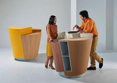 StandTable - an office desk with a circular podium #modernfurniture #officedecor