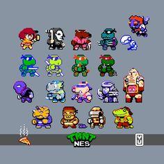 Teenage Mutant Ninja Turtles (NES Palette) Pixel Artist: Derek Yu Source: mossmouth.tumblr.com