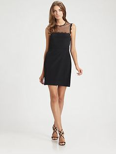 Phoebe Couture by Kay Unger - Lace Yoke Dress - Saks.com