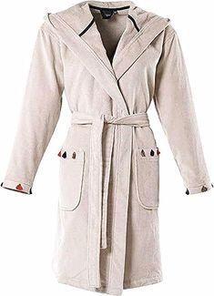 Femmes brodé en polaire chaude à manches longues robe de chambre peignoir wrap rose aqua