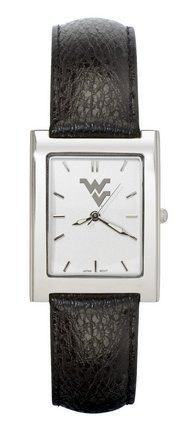West Virginia Mountaineers Gold Plated Men's Elite Dress Watch with Leather Strap by Logo Art. $46.15. This men's rectangular dress watch is water resistant and comes with a gold plated stainless steel case and stainless steel back. The watch has a gold tone dial with polished raised hour marks and padded leather strap with stainless steel buckle. Contains Miyota quartz movement. Limited lifetime warranty on watch and battery.Team the watch up with a match...