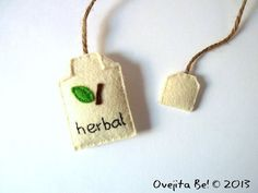 What an adorable bookmark! Herbal tea bookmark, felt tea bag by ovejitabe on Etsy, $8
